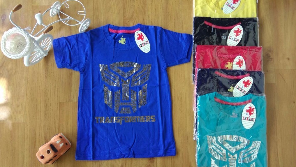 Baju anak laki laki kaos CHARIOT (umur 6m-4th) part of transformers