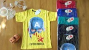 Baju anak laki laki kaos CHARIOT (umur 5th-7th)head of captain america