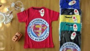 Baju anak laki laki kaos CHARIOT (umur 9th-10th) Superman hall of heroes