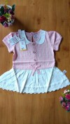 Baju anak perempuan Mini Dress Import 3167 (salem)